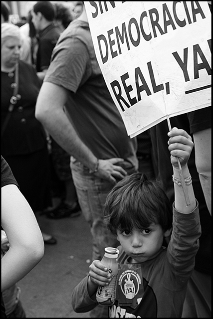 Child Protester at the Occupy Madrid protest