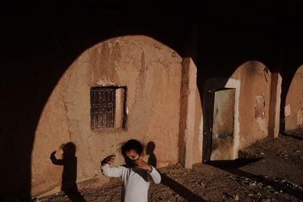 Town of Ouarzazate. Street sceneOuarzazate Province, Morocco