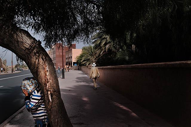Town of Ouarzazate. Street scene Ouarzazate Province, Morocco